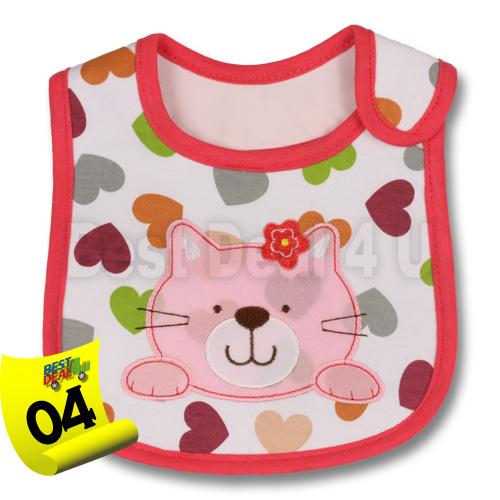 Baby-Girl-Boy-Waterproof-Cartoon-Towel-Kids-Toddler-Dinner-Feeding-Bibs