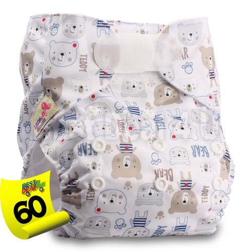 Baby-Washable-Reusable-Real-Cloth-STANDARD-Hook-Loop-Pocket-Nappy-Diaper miniature 65
